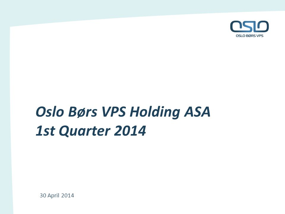 VPS – investor products Revenues in line with Q113 Revenues primarily driven by number of VPS accounts and market value of holdings January 1 - Reduction in number of accounts - Increased holdings Modernisation of user interface for investors 12