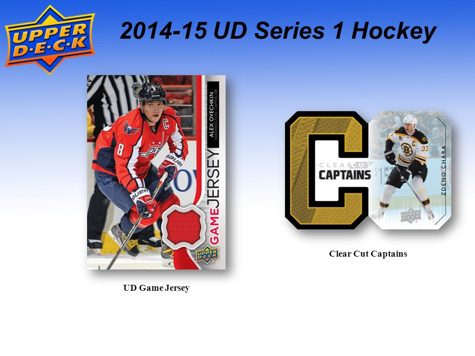 2014-15 UD Series 1 Hockey UD Game Jersey Clear Cut Captains