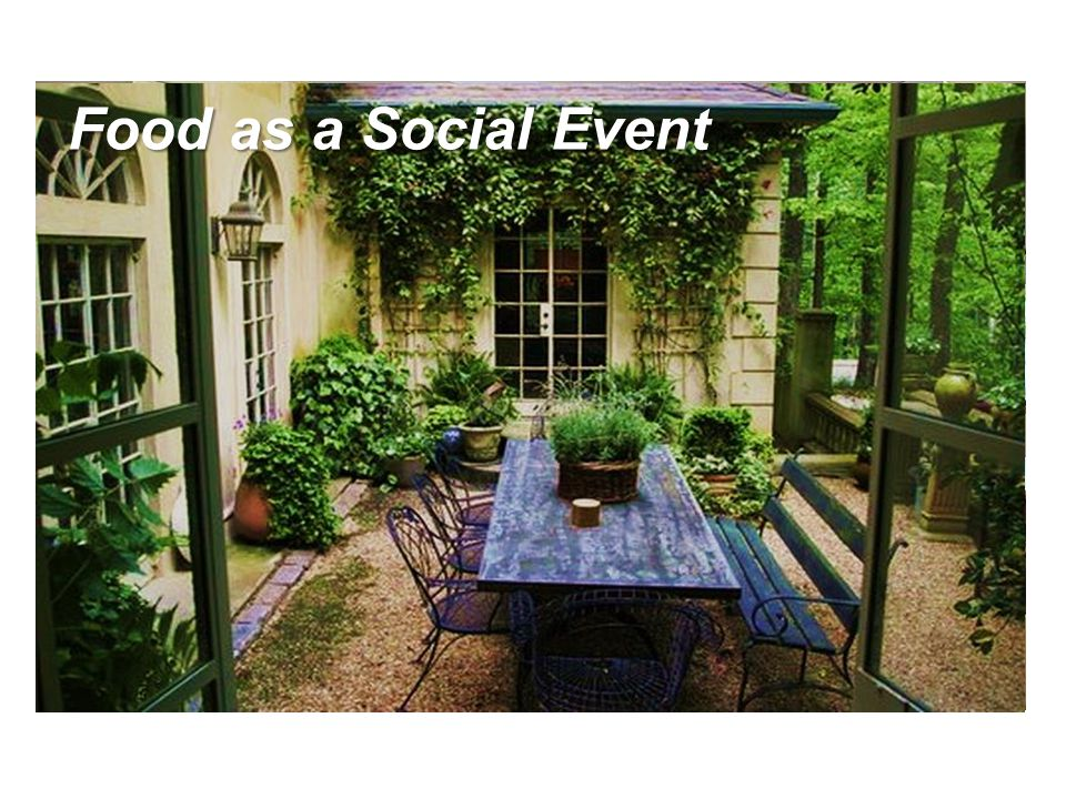 Food as a Social Event