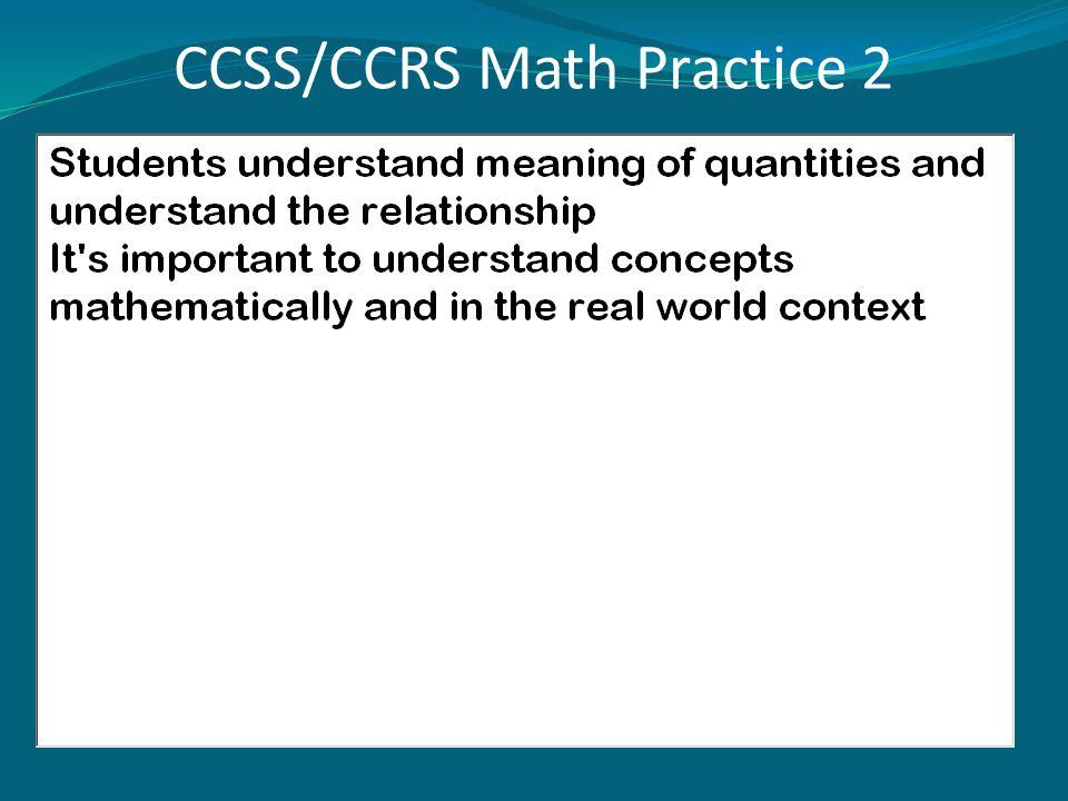 CCSS/CCRS Math Practice 2