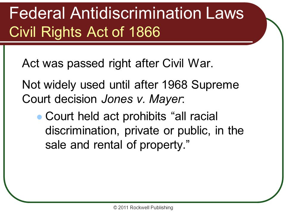 Fair Housing Act Exemptions usually irrelevant Fair Housing Act exemptions don't matter: If discrimination based on race.