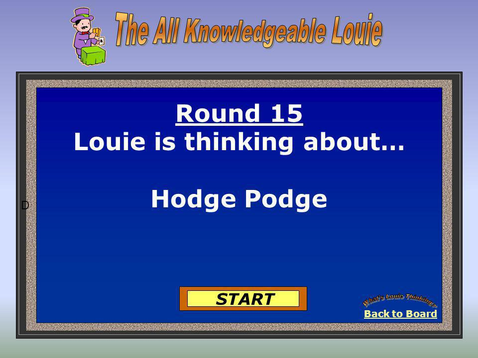 1. Hardness test Round 14-Louie is Thinking… 2. Diamond 3. Talc 4. Cleavage Got It 5. Gemstone 25 Points Got It 25 Points Back to Board View It 302928