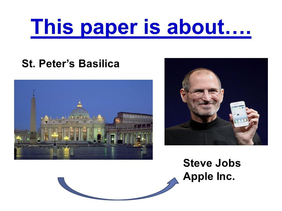 This paper is about…. St. Peter's Basilica Steve Jobs Apple Inc.