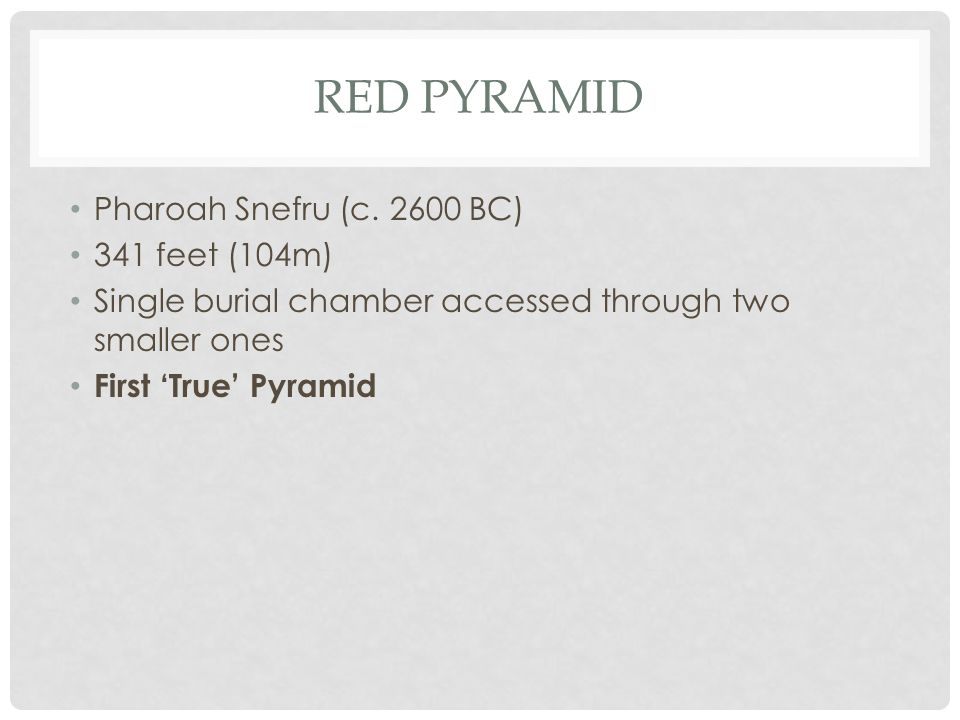 RED PYRAMID Pharoah Snefru (c.