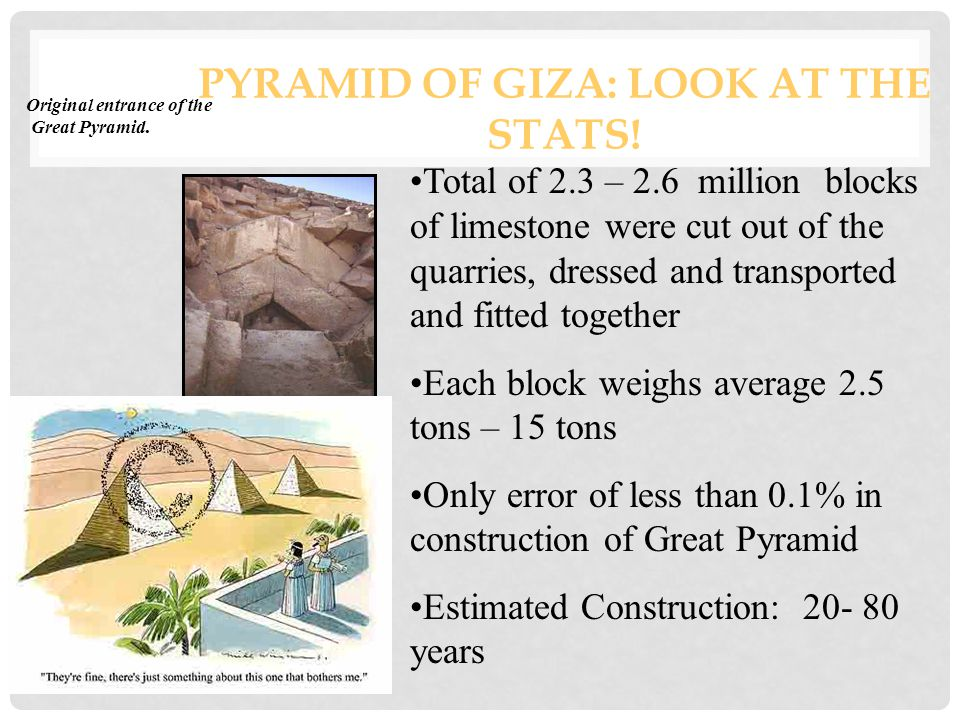 PYRAMID OF GIZA: LOOK AT THE STATS.