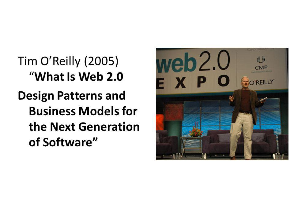The concept of Web 2.0 began with a conference brainstorming session between O Reilly and MediaLive International.