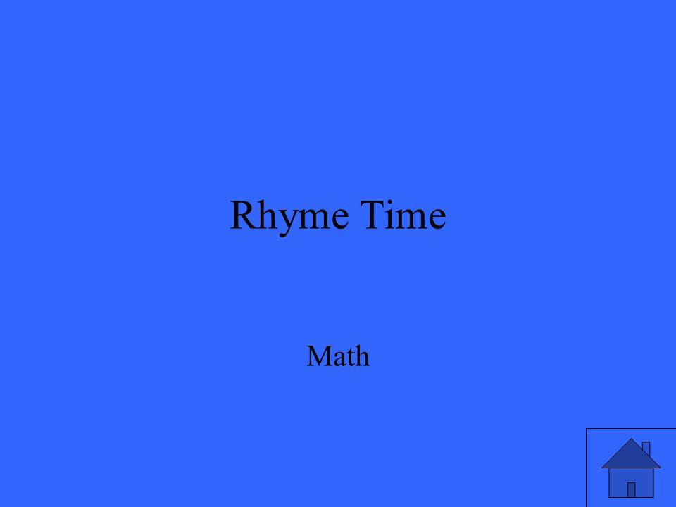 Rhyme Time Math