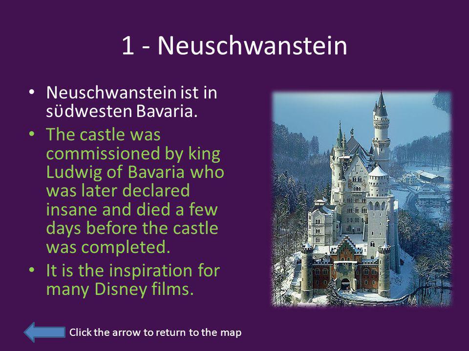 1 - Neuschwanstein Neuschwanstein ist in sϋdwesten Bavaria.