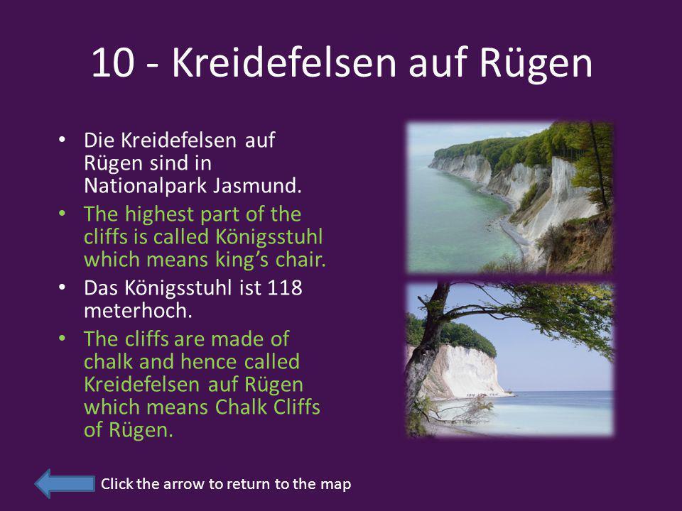 10 - Kreidefelsen auf Rügen Die Kreidefelsen auf Rügen sind in Nationalpark Jasmund.