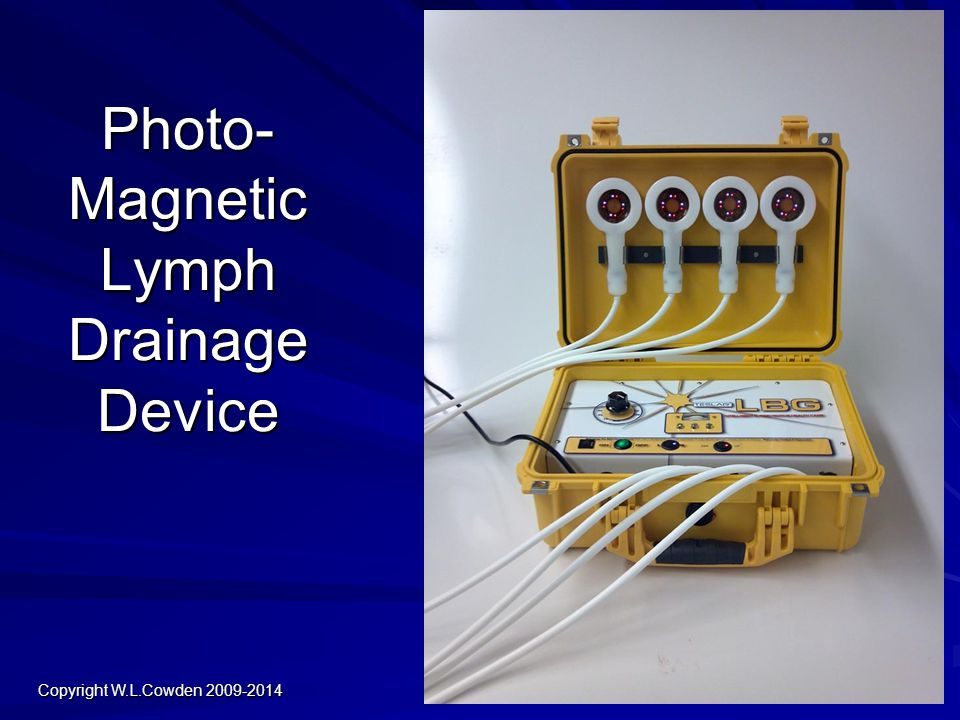 Photo- Magnetic Lymph Drainage Device Copyright W.L.Cowden 2009-2014