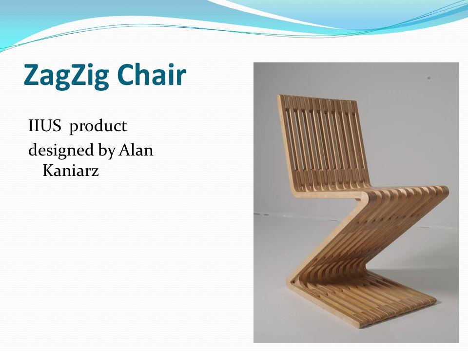 ZagZig Chair IIUS product designed by Alan Kaniarz