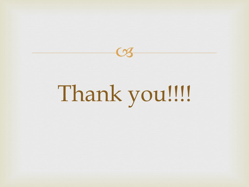  Thank you!!!!