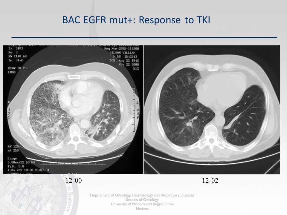 12-02 BAC EGFR mut+: Response to TKI 12-00