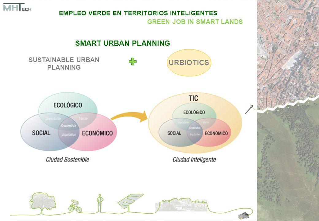 SMART URBAN PLANNING SUSTAINABLE URBAN PLANNING URBIOTICS EMPLEO VERDE EN TERRITORIOS INTELIGENTES GREEN JOB IN SMART LANDS