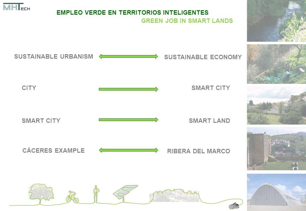 SUSTAINABLE URBANISM SUSTAINABLE ECONOMY CITYSMART CITY SMART LAND CÁCERES EXAMPLE RIBERA DEL MARCO EMPLEO VERDE EN TERRITORIOS INTELIGENTES GREEN JOB IN SMART LANDS