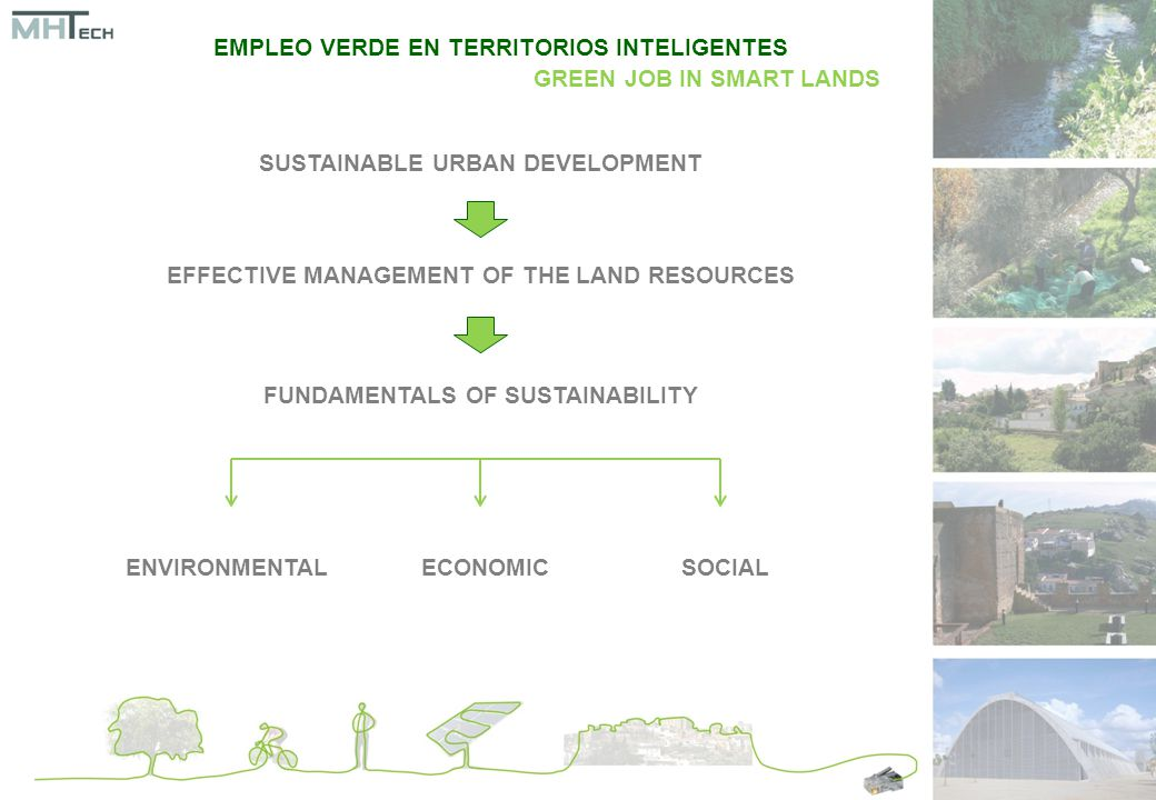 SUSTAINABLE URBAN DEVELOPMENT EFFECTIVE MANAGEMENT OF THE LAND RESOURCES FUNDAMENTALS OF SUSTAINABILITY ENVIRONMENTALECONOMICSOCIAL EMPLEO VERDE EN TERRITORIOS INTELIGENTES GREEN JOB IN SMART LANDS