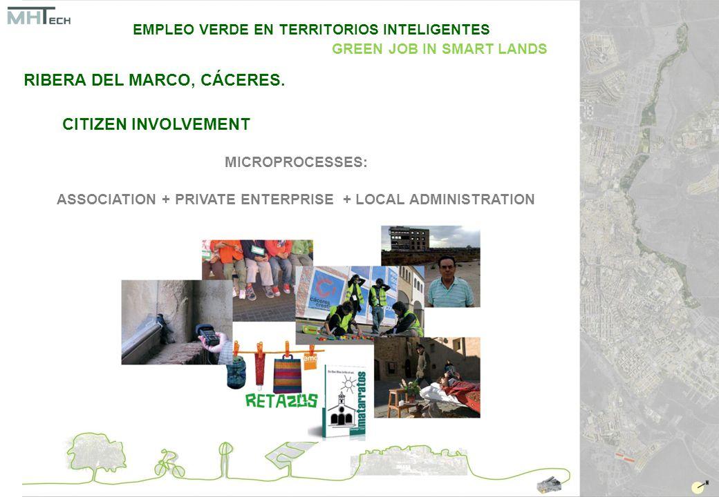 CITIZEN INVOLVEMENT MICROPROCESSES: ASSOCIATION + PRIVATE ENTERPRISE + LOCAL ADMINISTRATION EMPLEO VERDE EN TERRITORIOS INTELIGENTES GREEN JOB IN SMART LANDS RIBERA DEL MARCO, CÁCERES.