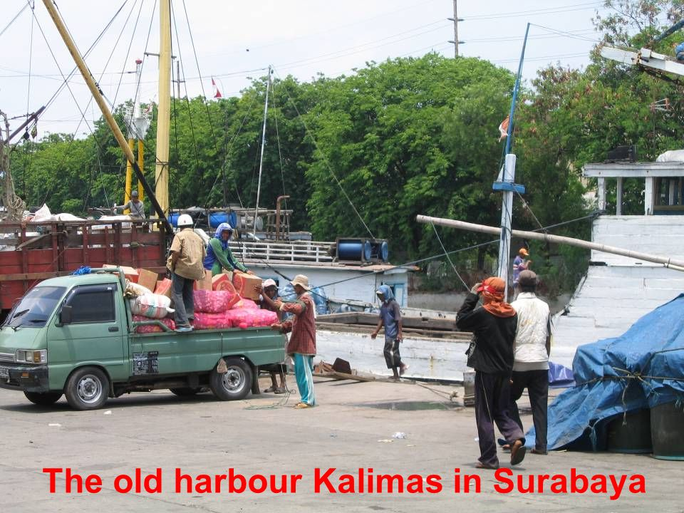 The old harbour Kalimas in Surabaya