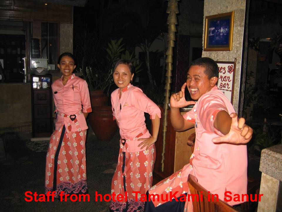 Staff from hotel TamuKami in Sanur