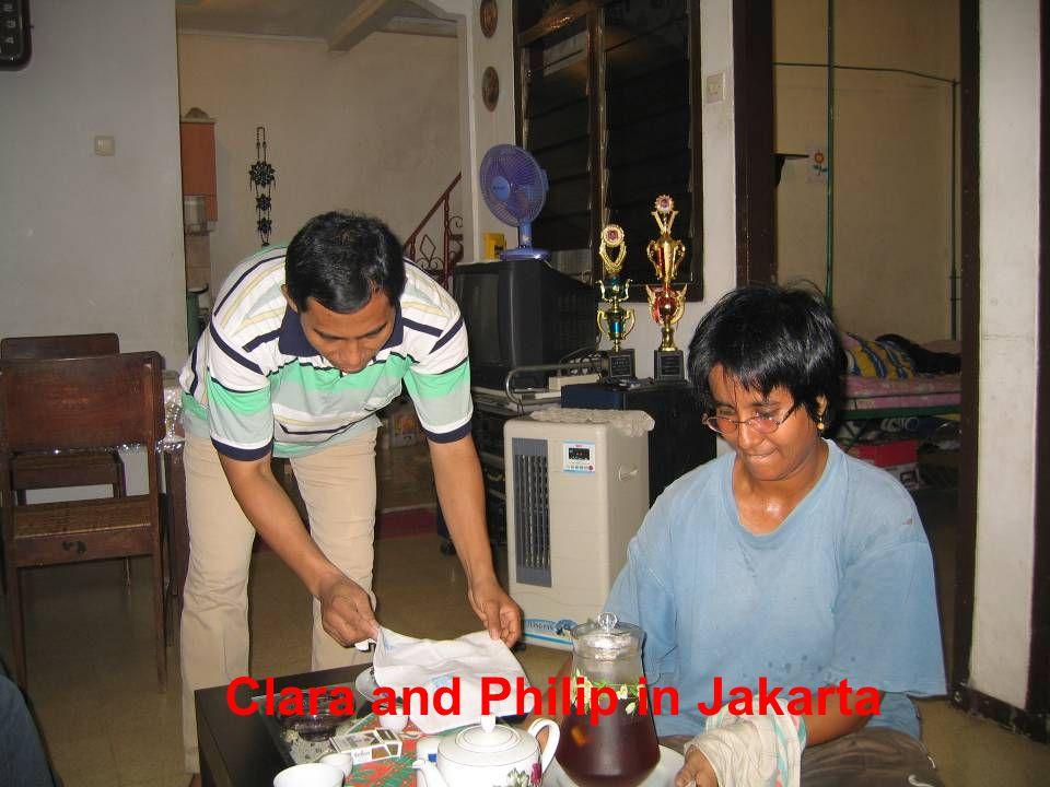 Clara and Philip in Jakarta