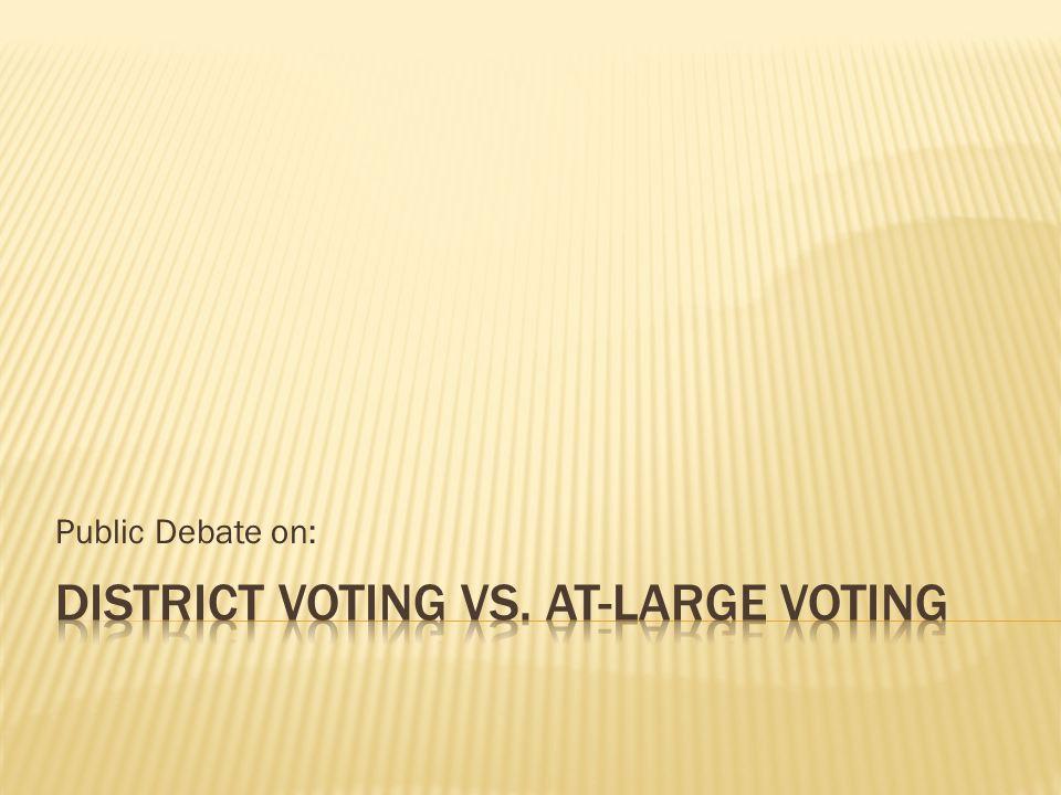Public Debate on: