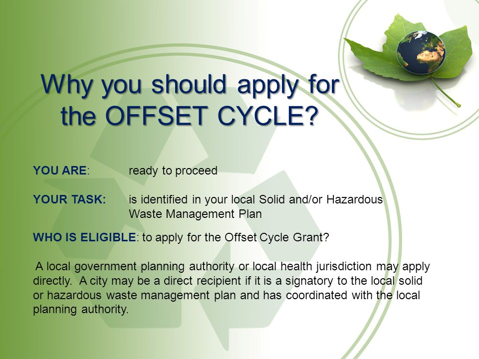 Why you should apply for the OFFSET CYCLE.
