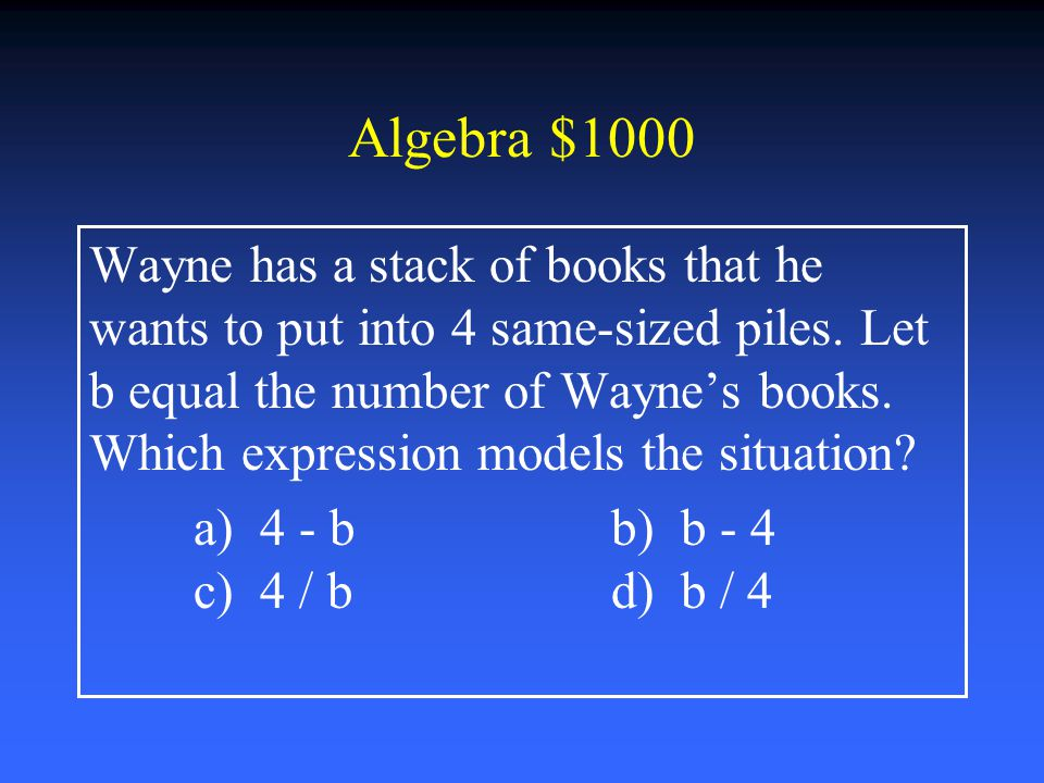 Algebra $800 What is the value of n – 3.8 if n = 6 a) 2.2 b) 3.2 c) 3.8 d) 9.8