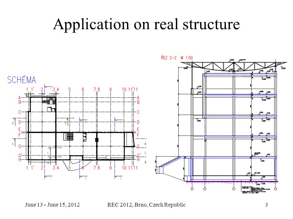 June 13 - June 15, 2012REC 2012, Brno, Czech Republic3 Application on real structure