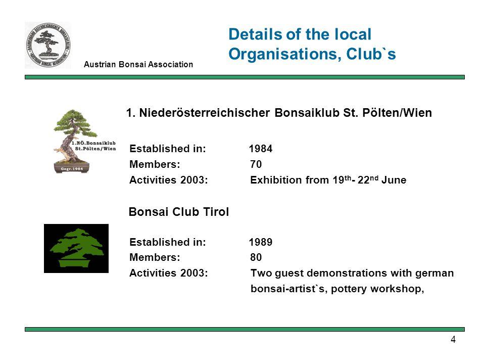 4 Austrian Bonsai Association 1.Niederösterreichischer Bonsaiklub St.
