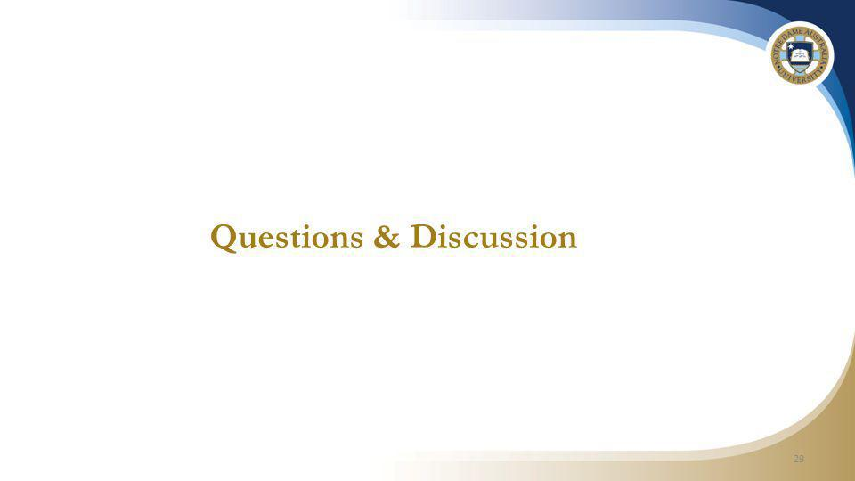 Questions & Discussion 29