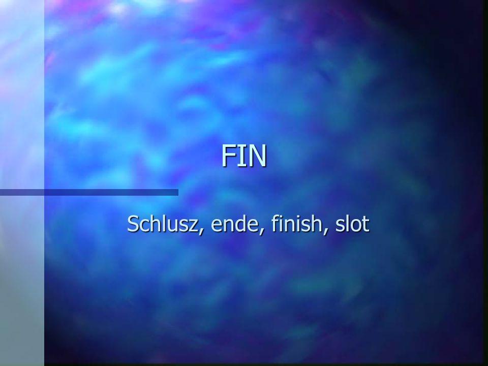 FIN Schlusz, ende, finish, slot