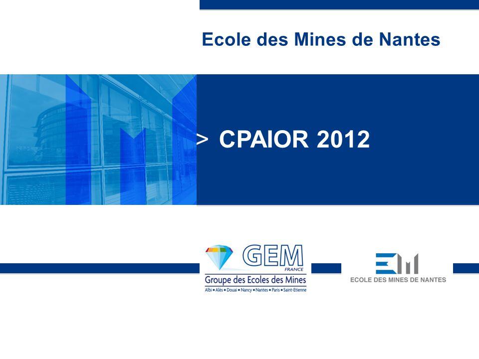 page 1 Ecole des Mines de Nantes >CPAIOR 2012