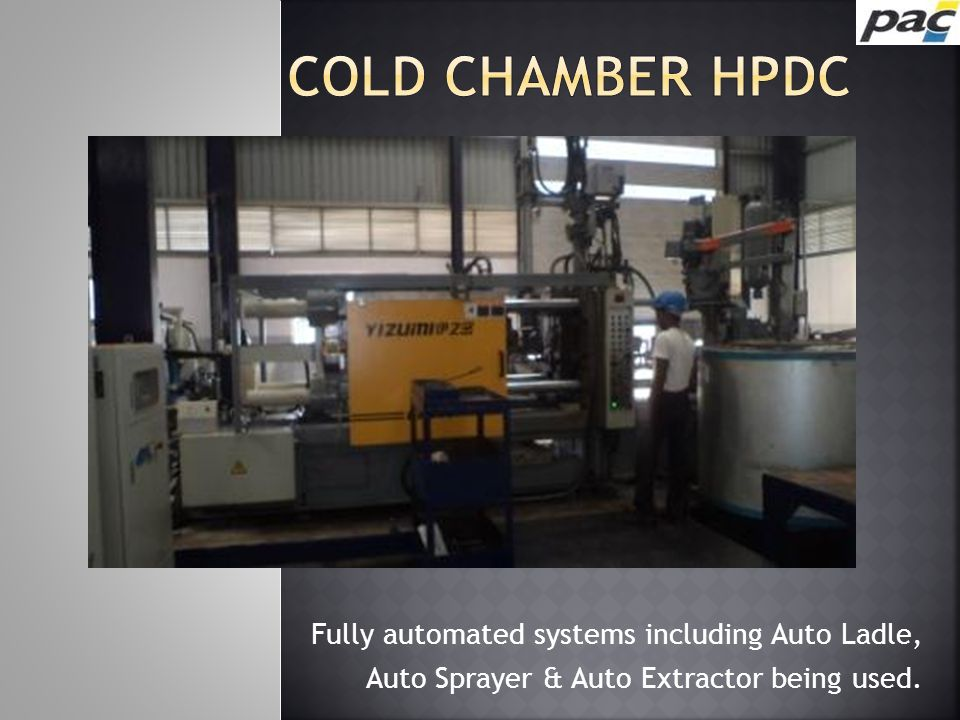 Fully automated systems including Auto Ladle, Auto Sprayer & Auto Extractor being used.