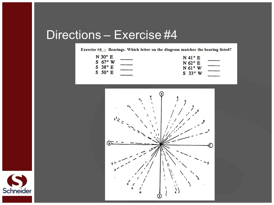 Directions – Exercise #4