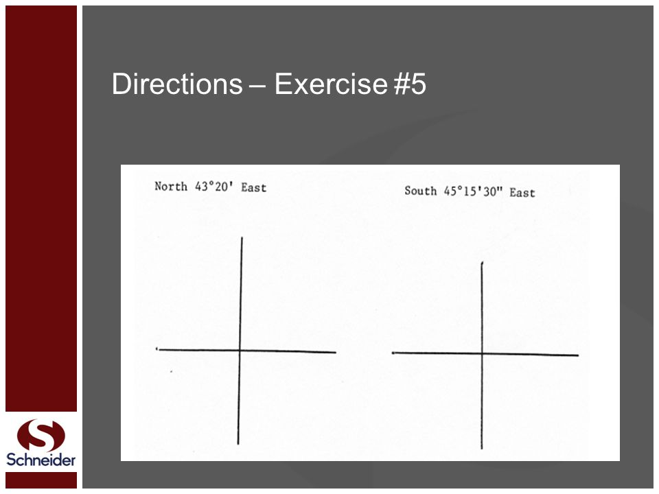 Directions – Exercise #5
