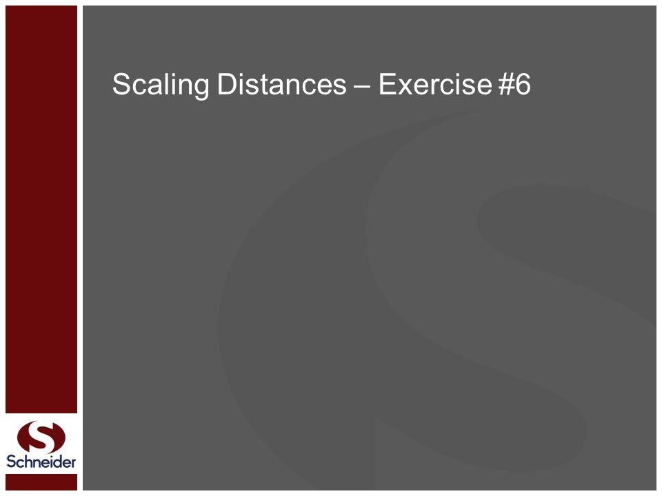 Scaling Distances – Exercise #6