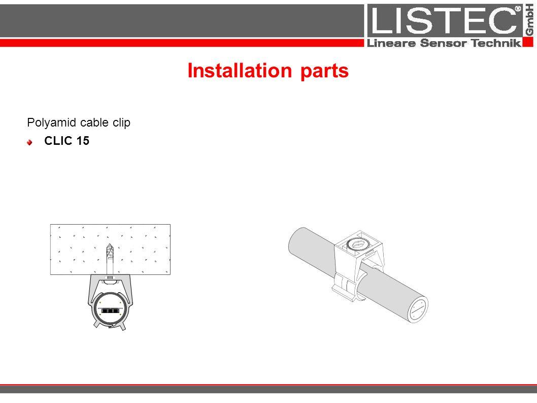 Installation parts Polyamid cable clip CLIC 15