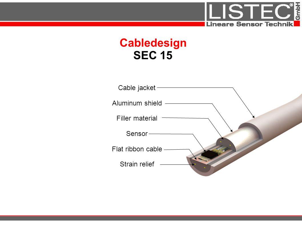 Cabledesign SEC 15 Cable jacket Aluminum shield Filler material Sensor Flat ribbon cable Strain relief