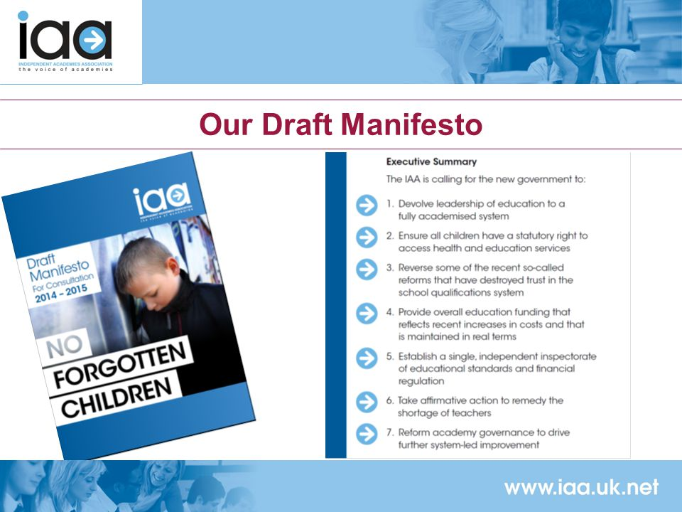 Our Draft Manifesto