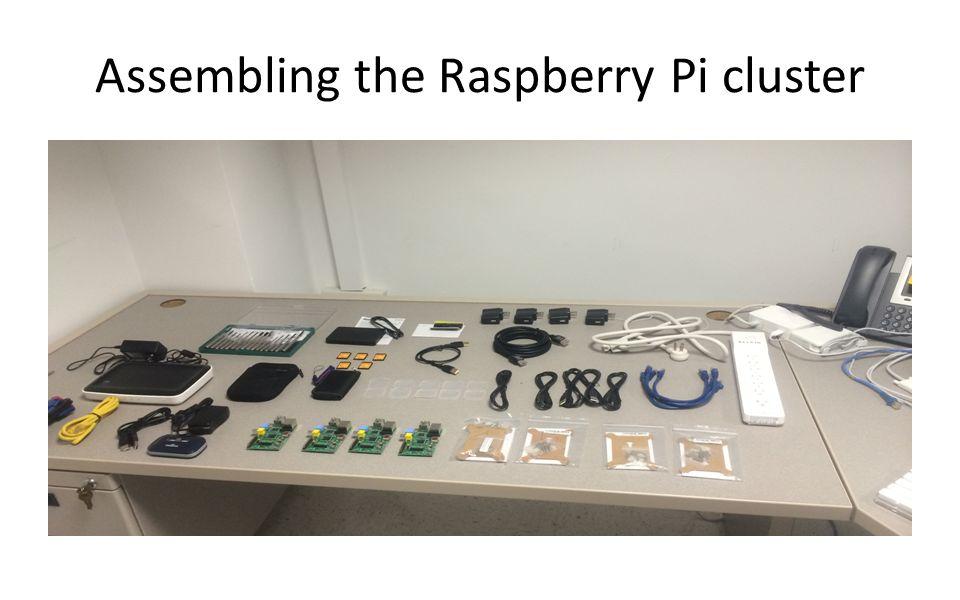 Assembling the Raspberry Pi cluster