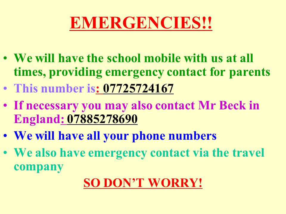 EMERGENCIES!.