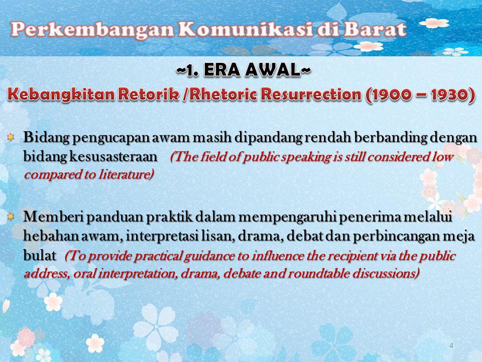 Perkembangan bidang komunikasi secara sistematik di Malaysia bermula dengan penubuhan 4 jabatan komunikasi di negara ini.