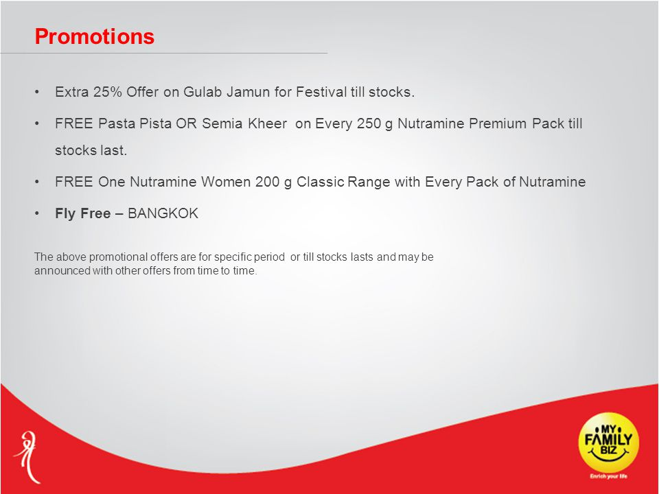 Promotions Extra 25% Offer on Gulab Jamun for Festival till stocks.