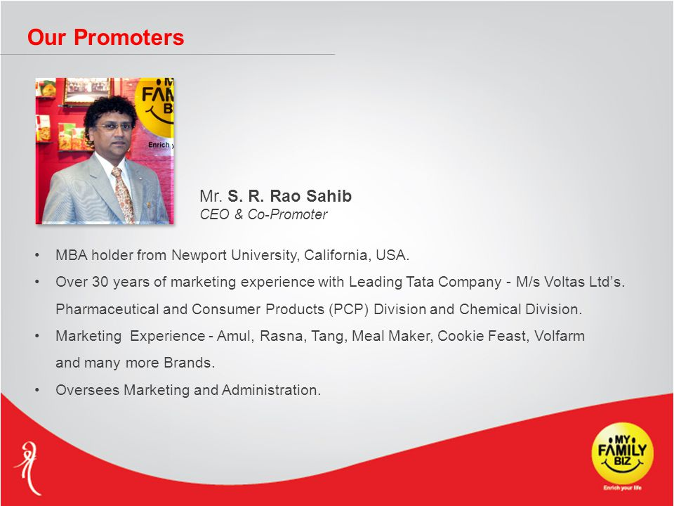 Our Promoters Mr. S. R.