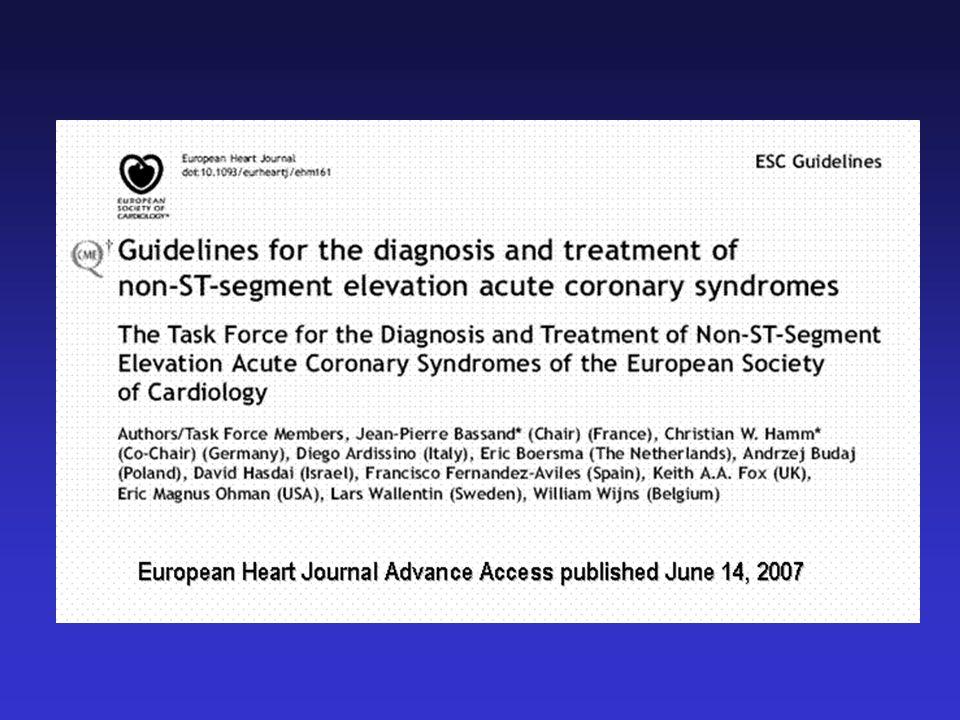 Trends and Prognosis in NSTEMI Furman MI, JACC 2001, 37:1571-1580 Hospital 1 year