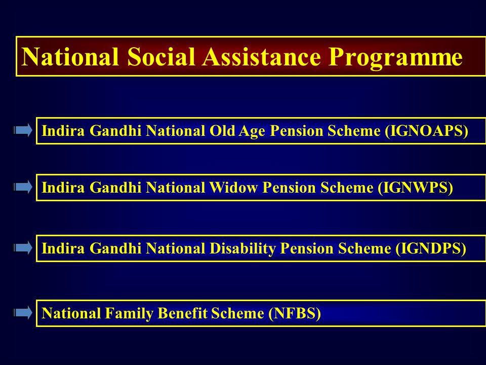 National Social Assistance Programme Indira Gandhi National Old Age Pension Scheme (IGNOAPS) Indira Gandhi National Widow Pension Scheme (IGNWPS) Indi