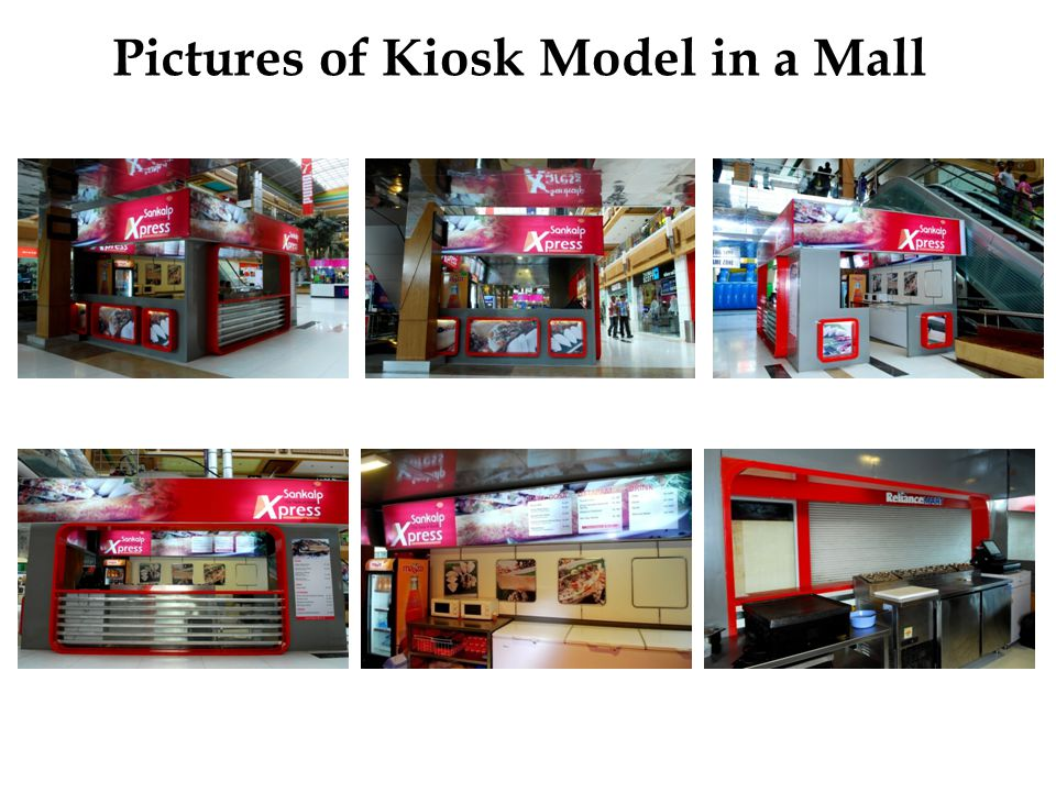 Pictures of Kiosk Model in a Mall