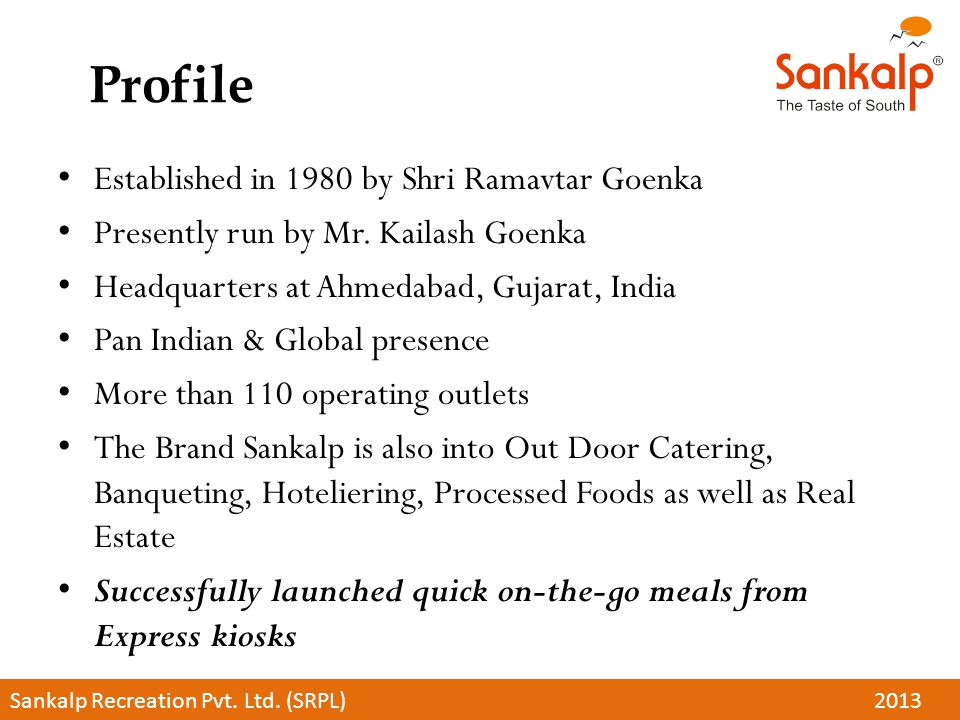 Profile Established in 1980 by Shri Ramavtar Goenka Presently run by Mr.
