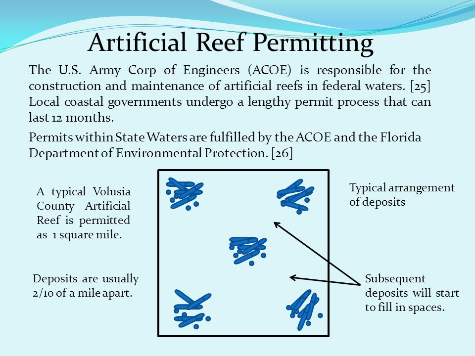 Artificial Reef Permitting The U.S.