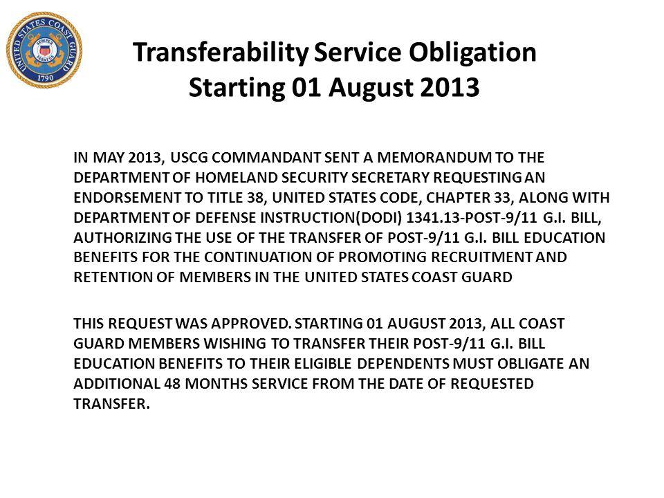 Department of VA websites http://www.va.gov/ https://www.ebenefits.va.gov USCG websites http://www.uscg.mil/psc/psd/fs/GI_Bill.asp http://www.uscg.mil/hr/cgi/